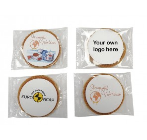 Single Stroopwafel with your own logo printed