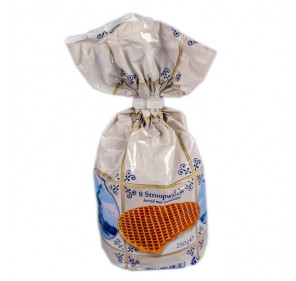 Stroopwafels with dairy butter filling (8 pieces/250 gram) Delftsblauw