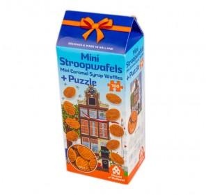 Mini Stroopwafel in cardboard box with windmill theme