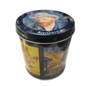 Tin with stroopwafels Van Gogh theme (8 pieces, 250g)