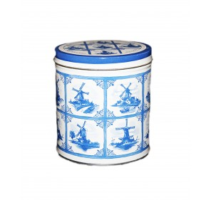Tin delft blue with stroopwafels  (8 pieces, 250g)